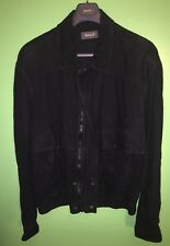 Bally Made in Italy Sz 48 Men's Black Leather Full Zip Jacket