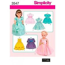SIMPLICITY SEWING PATTERN MISSES' 18 INCH (45.5CM) DOLL CLOTHES   3547