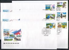 Russia 2007 Trains/Horses/Statues/Boats/Tourism/Transport 1v x 6 FDC's (n33447)