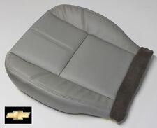 07-14 Chevy Silverado 1500 HD 2500 HD 3500 Driver Bottom LEATHER Seat Cover Gray