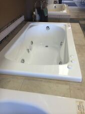 "Carver Tubs SR6036 60"" x 36"" Whirlpool Bathtub w/ 6 White Colored Whirlpool Jets"