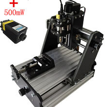 New CNC Milling Engraving Machine 3 Axis Carving DIY Engraver + 500mw Laser Head