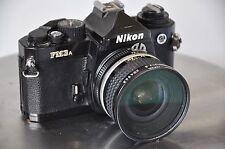 Near Mint Nikon FM3A Black 35mm SLR Film Camera w 20 MM Nikkor 2.8 Lens