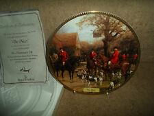 """The Meet"" Plate - In The Huntsman's Call ~ Hunting Nostalgia + Certificate"