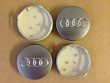 4 x AUDI CENTRE CAPS 60mm alloy wheel center Badges RS4 S3 S4 A3 A4 A6 A8 TT