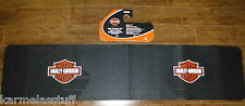 Harley-Davidson Orange Rear Runner Rubber Floor Mat by Plasticolor NEW
