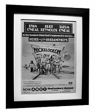 NICKELODEON+Movie+Film+POSTER+AD+FRAMED+RARE ORIGINAL 1977+EXPRESS GLOBAL SHIP