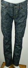 EDWIN JEANS 32 WAIST SEN CAMOUFLAGE SELVAGE DENIM TAPERED LEG NEW WITHOUT TAGS