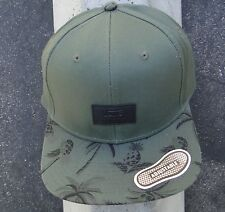 Vans Skateboard Co. Palms Army Green Unisex Mens Snapback Hat