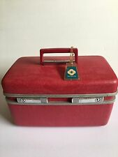 Vintage Samsonite Pink Royal Traveller Cosmetic Train Case Makeup Luggage W/ Key