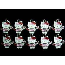 10 pcs Candy Jewelry Making Metal Figures Pendant Charms For Hello Kitty + GIFT