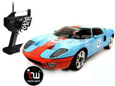 NEW IWAVER 02M FORD GT 40 GULF BLUE RC CAR 1:28 FM RTR MINI-Z
