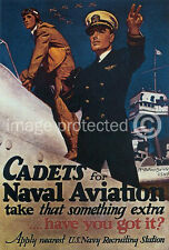 Cadets Naval Aviation WW2 US Navy Vintage Poster  18x24