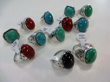 [US SELLER] 10 rings wholesale jewelry lot vintage turquoise stone fashion ring