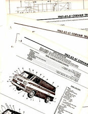 1961 1962 1963 CHEVROLET CORVAIR TRUCK MOTORS ORIGINAL PART FRAME CRASH SHEETS M