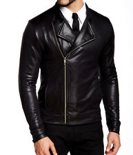 Antony Morato Men's Black Metallic Slim Fit Asymmetric Zip Jacket Size Medium