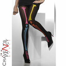 Neon Stampa Scheletro Collant FEVER Costume Halloween Accessorio