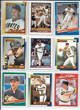 Billy Hatcher plus 8 more Pirates baseball card lot