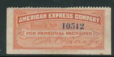 """AMERICAN EXPRESS PACKAGE STAMP """"FOR PERSONAL PACKAGES"""""""