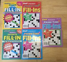 Lot of 5 Penny Press Fill in ins FREE SHIP Dell Pocket Penny's $19.95 retail