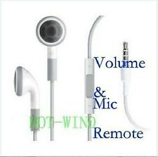 Headphone Earphone Headsets Mic Remote Volume Control F iPhone 4S 4G 3GS 3G iPod