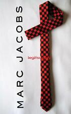 MARC JACOBS Checker Skinny Neck Tie Black Red