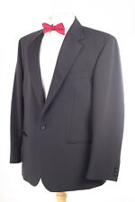 1860 MENSWEAR MEN'S BLACK EVENING TUXEDO DINNER SUIT 42S DRY-CLEANED