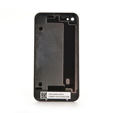 Black Genuine Glass Battery Back Cover Door Replacement For iPhone 4 A1332 GT
