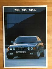 BMW 7-series E32 brochure 1986 - 730i, 735i, 735iL