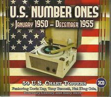 U.S NUMBER ONES 1950-1955, 59 CHART TOPPERS Inc DORIS DAY, NAT KING COLE & MORE