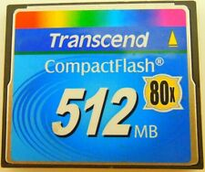512MB Transcend CF 80X 512MB Compact Flash Memory Card Genuine Made in TaiWan