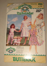 Clothes Patterns Cabbage Patch Kids Preemies Doll 1987 Butterick 4889 Uncut