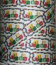 "5 Yds 1"" BACK TO SCHOOL ABC'S 123 BLOCKS CRAYONS GROSGRAIN RIBBON"