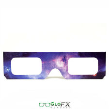 5 Pack GloFX Paper Cardboard Diffraction Glasses –Galaxy Spiral Diffraction Rave