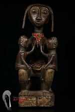 Discover African Art: Attye Maternity Figure with Twins from Ivory Coast
