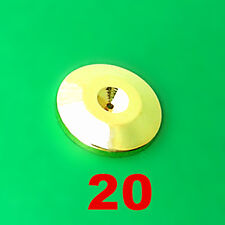 20pcs Gold Discs Audio Cones Amp Speaker Spikes Stands Base 25mm
