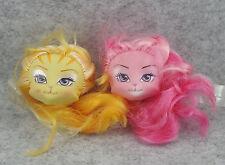 2pcs Monster High Cat Lanard Catwalk Kitties Doll Replacement Head  Set #4