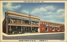 Camden NJ The Naden Store Kaighn Ave Linen Postcard