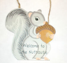 Funny sign WELCOME TO THE NUTHOUSE Country Home Decor
