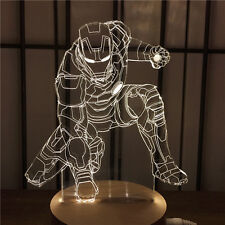 Iron Man 3D illusion 7 Color LED Light Night Change Table Desk Lamp