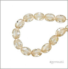 8 CZ Flat Oval Beads 6x8mm Light Champagne #64731