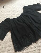 **New Without Tags** ASOS, Boho/Hippie, Festival Crop Top, Black, UK Size 12