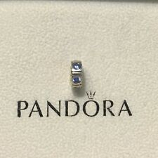 Authentic Pandora Sterling Silver Blue CZ Trinity Spacer Charm 790368CZB
