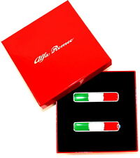 Alfa Romeo Italian Flag Door Pillar Wing Badges Emblem New + Genuine 71807227