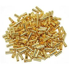50pairs 3.5mm Gold Bullet Connector Male / Female Plug for Battery ESC Motor