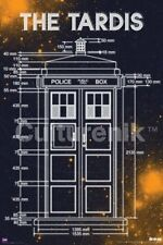 Doctor Who The Tardis Measurments Dimensions 24 x 36 Poster, NEW ROLLED #5625