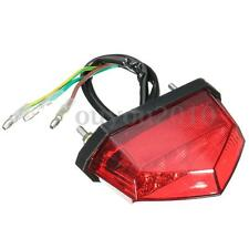 Motorcycle LED Running Number License Plate Rear Tail Stop Brake Light Lamp 12V