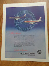 1959 Pratt Whitney Aircraft Ad Flight Propulsion  Boeing 707 & Douglas DC 8