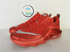DS Nike LeBron XII 12 Low Red October James 724557 616 Size 9