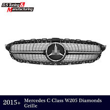 Diamond Grill front Grille for Mercedes W205 C Class C250 C300 C400 2015 2016